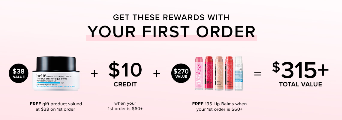 SIGN UP & GET REWARDS WITH YOUR FIRST ORDER OF $60+