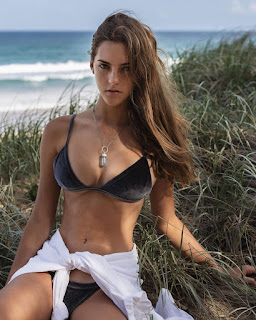 emily feld in black bikini
