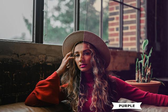 Purple Style Photoshop Action 4980961