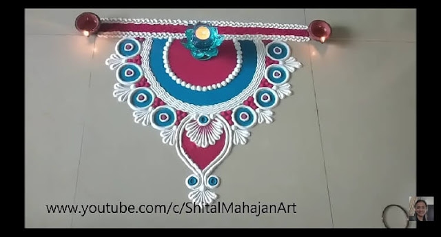 easy rangoli design for diwali