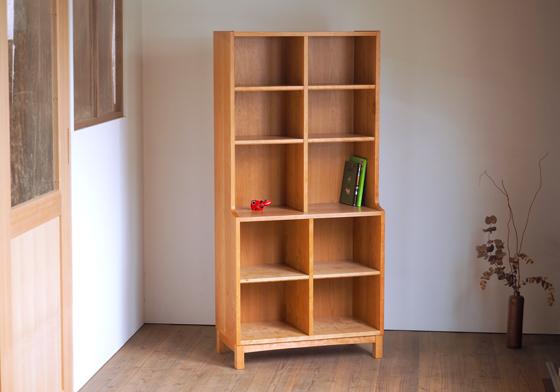 チェリー無垢材の本棚