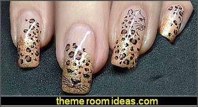 Leopard animal print Nail Art Water Slide Sticker, animal print Decals