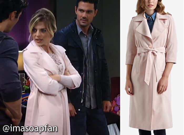 General Hospital, GH, Kirsten Storms, Maxie Jones, Pink Trench Coat