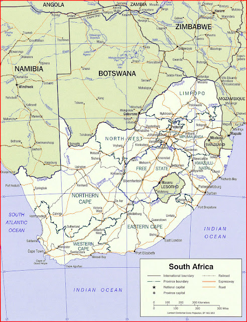 image: South Africa political Map