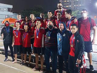 flamengo campeão torneio estadual sub-19 masculino polo aquatico 2021