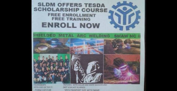 SMAW NC II (FREE TRAINING and ASSESSMENT) Scholarship program of TESDA