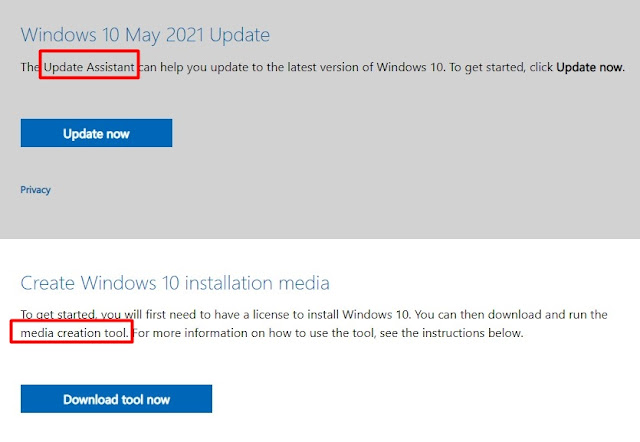 windows 10 may 2021 update official download page