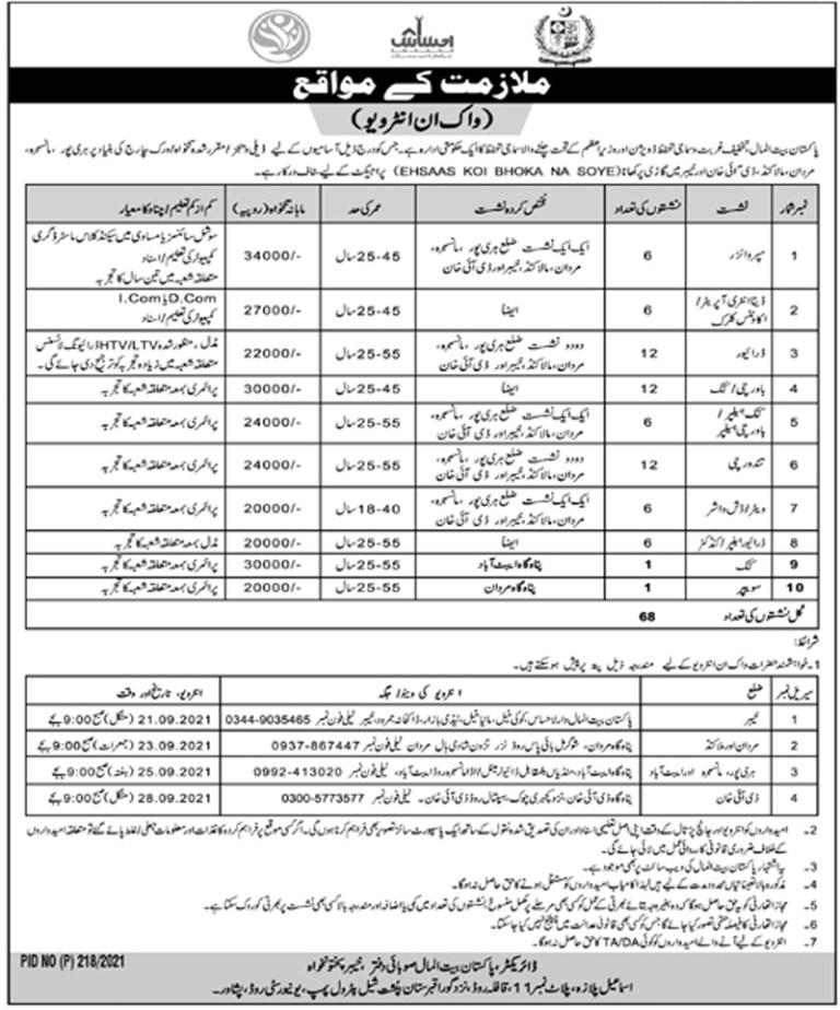 www.pbm.gov.pk - PBM Pakistan Bait ul Mal Jobs 2021 in Pakistan