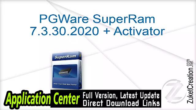 PGWARE SuperRam v7.4.30.2018 + Keygen