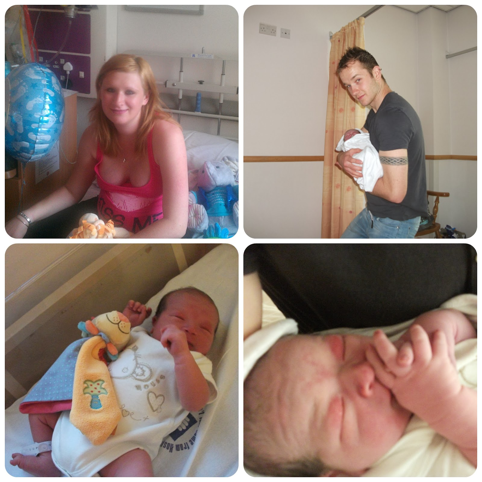 First time parents in hospital after birth