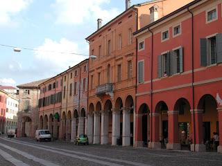 The Corso Giuseppe Mazzini in Correggio