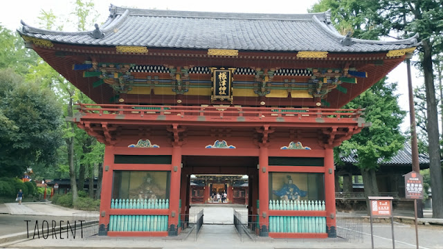 travelling ke Nezu jinja Shrine Tokyo