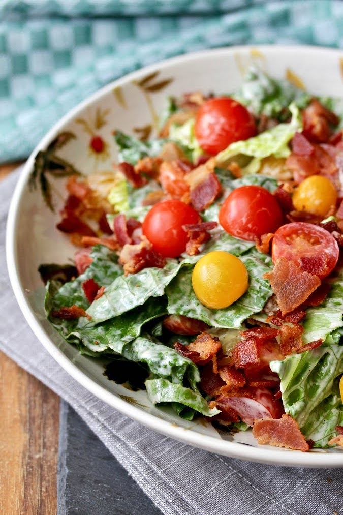 Bacon, Lettuce, and Tomato Salad | Photo Courtesy of Karen's Kitchen Stories