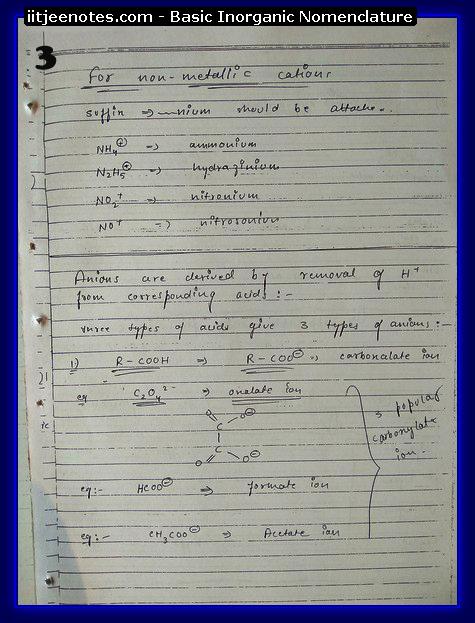 Inorganic Nomenclature3