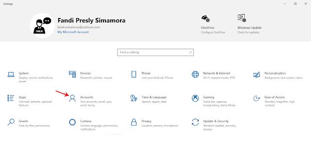Mengganti Foto Profil Windows 10 Melalui Menu Accounts