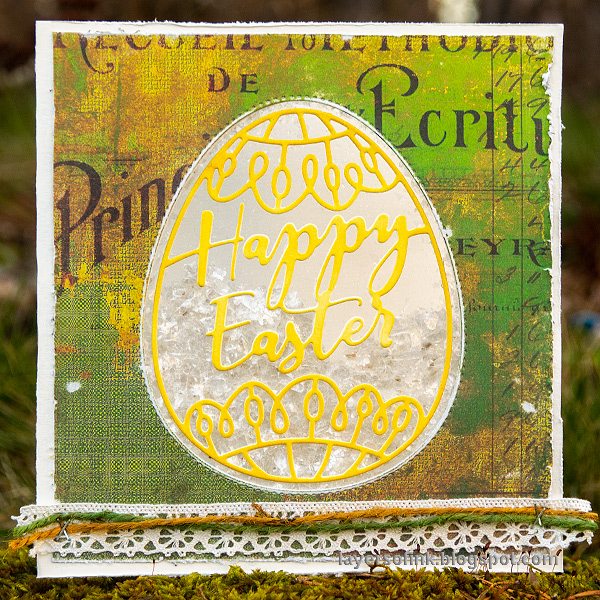 Layers of ink - Easter Egg Shaker Card Tutorial by Anna-Karin Evaldsson.