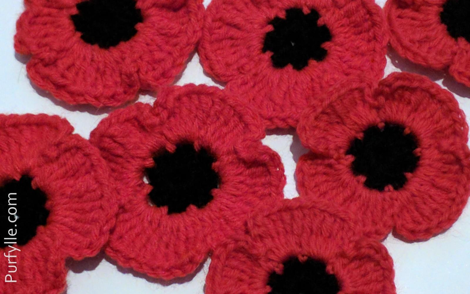 Purfylle: Fast Crochet Poppy