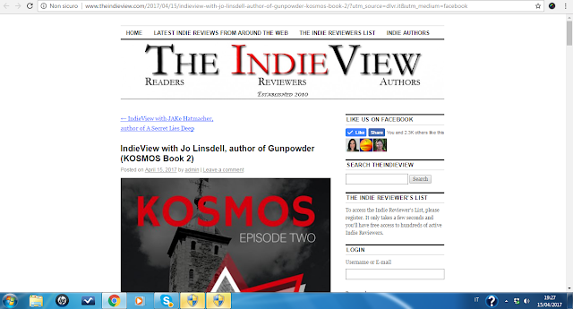 Featured at: The Indie View #AuthorInterview #KOSMOS
