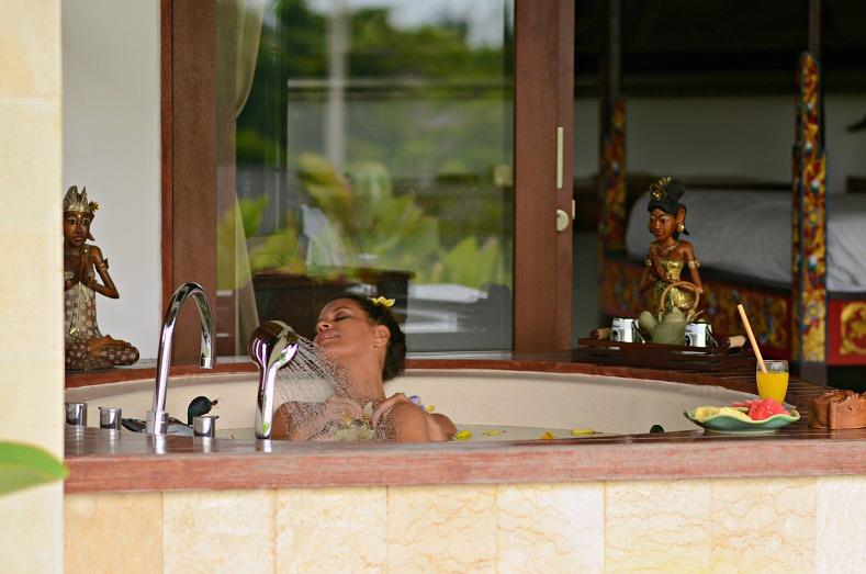 Tamara Chloé, Aqua Octaviana Bali Villa, Private Jacuzzi room, Bali, Indonesia