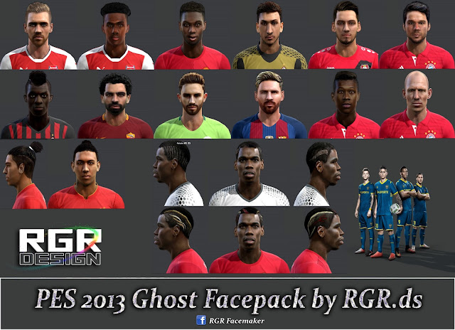 PES 2013 Ghost Facepack by Rgr DS