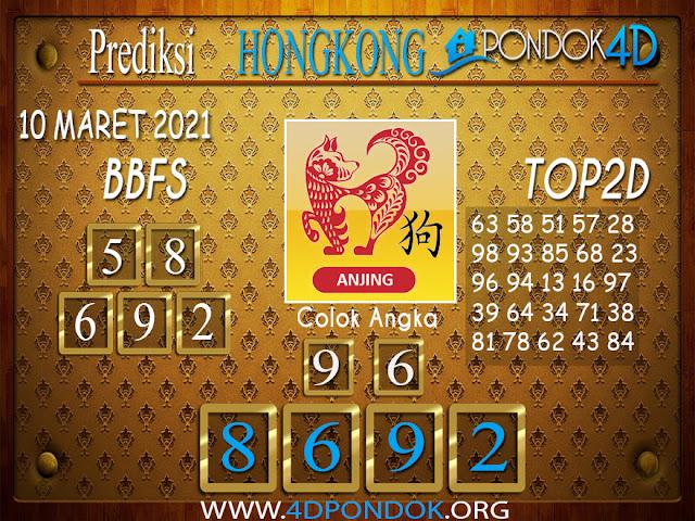 Prediksi Togel HONGKONG PONDOK4D 10 MARET 2021