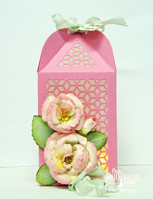 Our Daily Bread Designs Stamp Set: Lovely Flower, Custom Dies: Luminous Lantern, Roses, Rose Leaves, Mini Tags