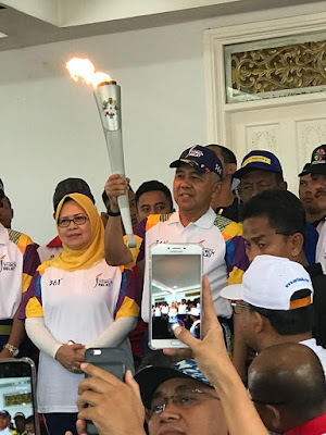 torch relay arak pawai api obor asian games 2018 siak riau