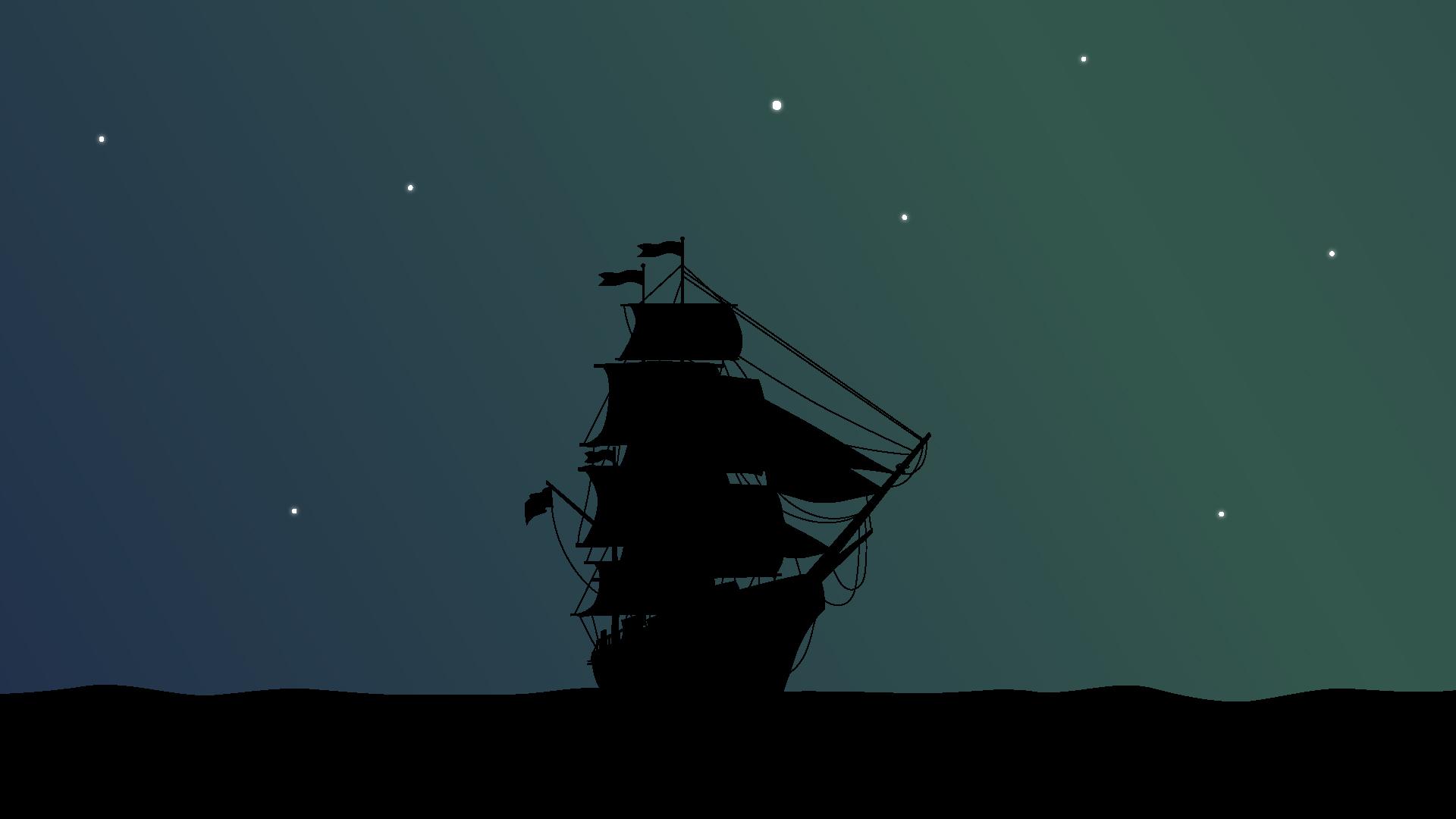 Minimalist Desktop Wallpaper Pirate Ship