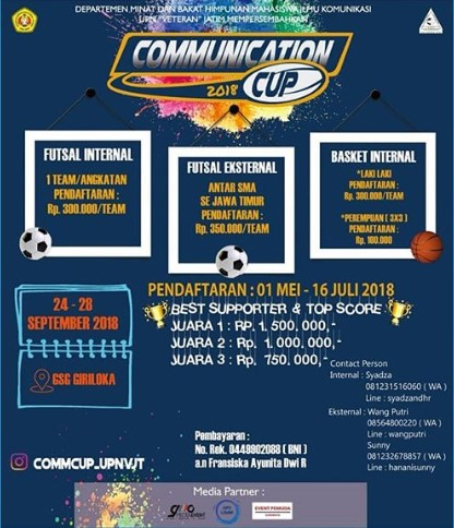 Lomba Futsal & Basketball Umum Communication Cup 2018 UPN