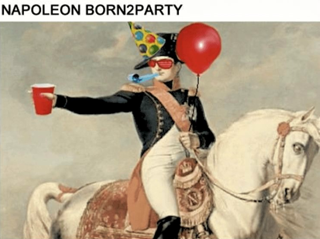 Napoleon-born2party