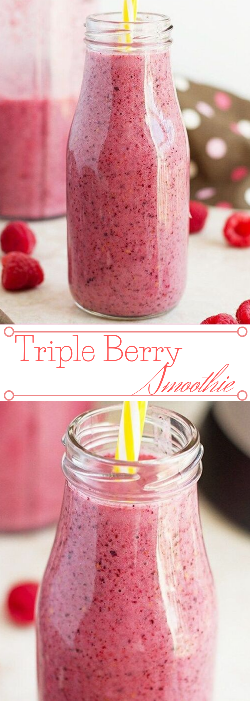 MIXED TRIPLE BERRY SMOOTHIE #drink #smoothie #cocktail #berry #yummy