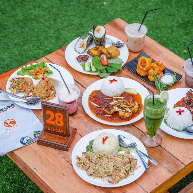 Menu di Elji Cafe Lingkung Gunung Bogor