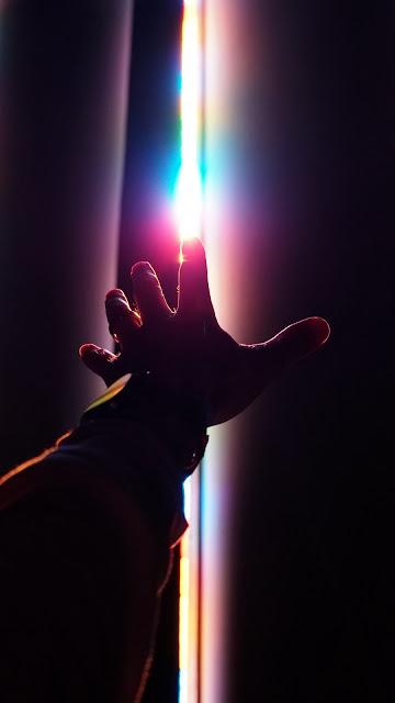 Fotografia, Sol, Raios de Luz, Mão