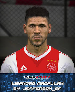 PES 2017 Faces Lisandro Magallán by Jefferson_SF