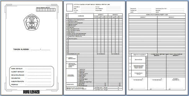 Contoh Format Buku Legger SD, MI, SMP, MTs, SMA, SMK
