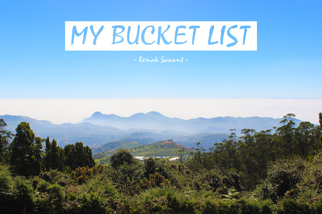 Cover Photo: My Bucket List - Ronak Sawant