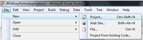 Creating new project on Visual Studio