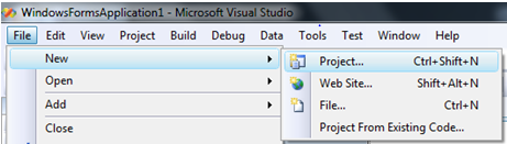 Creating new project on Visual Studio