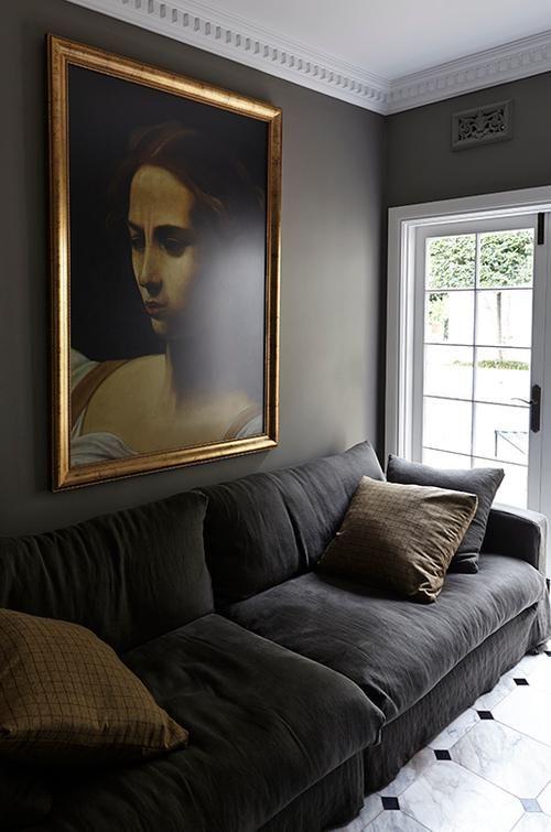 artwork on a grey wall