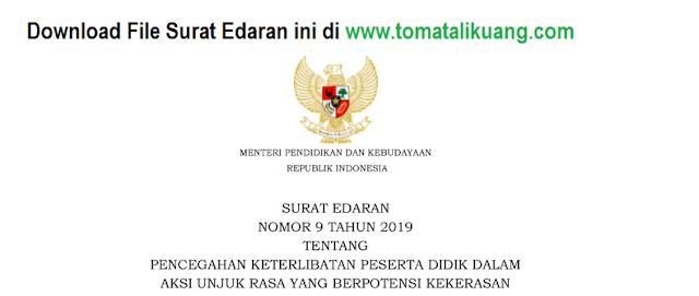 surat edaran mendikbud nomor 9 tahun 2019; tomatalikuang.com