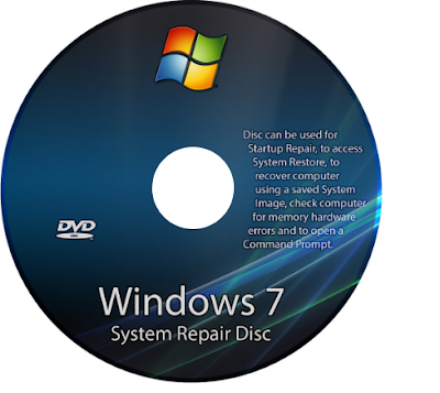CD System Repair di Windows 7