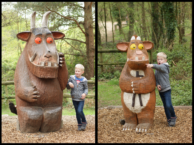 Finding both the Gruffalo and his child at  Moors Valley Country Park