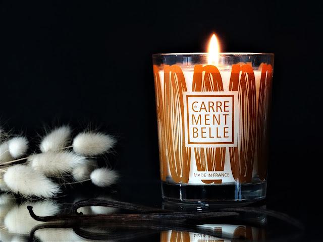 bougie parfumée carrément belle, carrément belle parfums, bougie parfumée vanille, bougie vanille carrément belle avis, bougie à la vanille