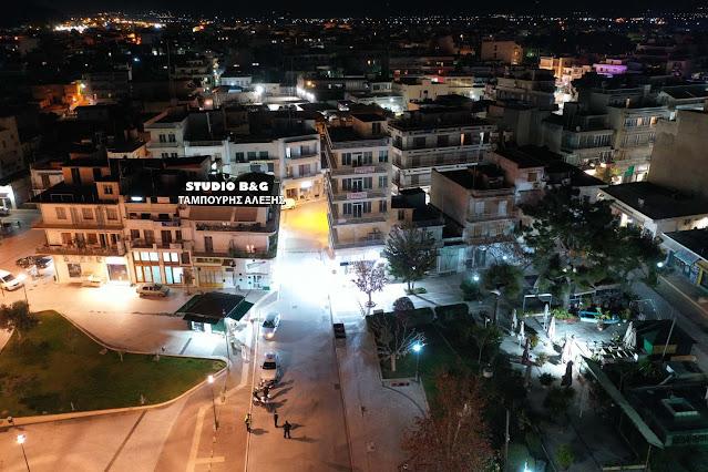 Άργος: Μπλόκα της αστυνομίας σε μια έρημη πόλη