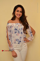 Actress Pragya Jaiswal Latest Pos in White Denim Jeans at Nakshatram Movie Teaser Launch  0047.JPG