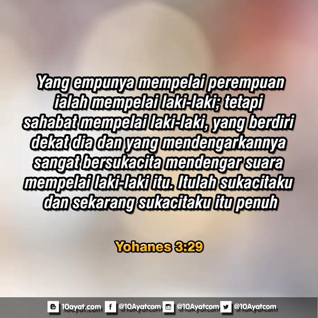 Yohanes 3: 29