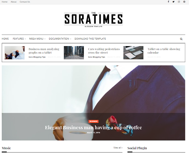 The Sora Times Blogger Template