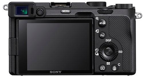Sony A7C, вид сзади