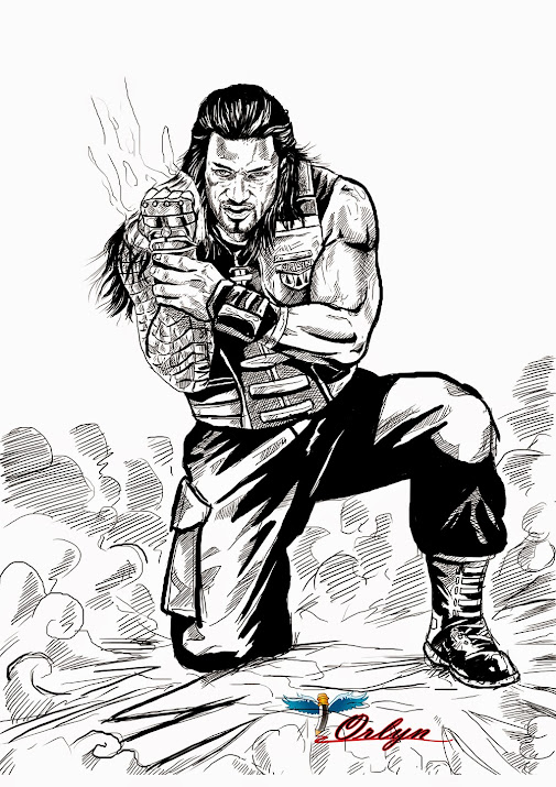 seth rollins wwe coloring pages