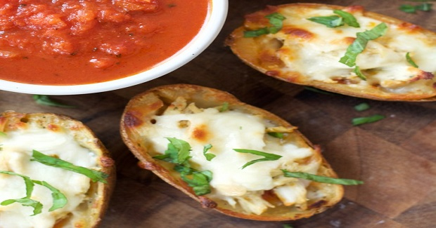 Chicken Parmesan Stuffed Potato Skins Recipe